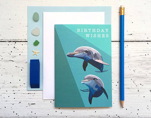 Dolphin Birthday Card - Bluebells of Bath