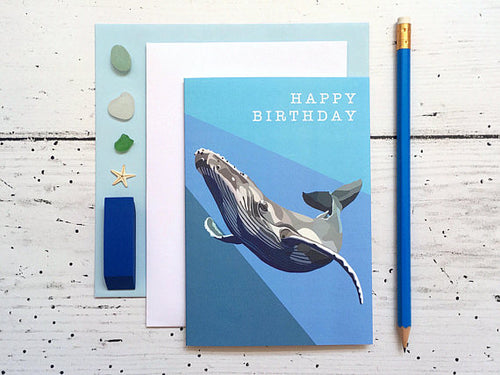 Whale Birthday Card - Bluebells of Bath