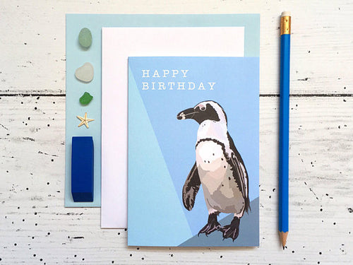 Penguin Birthday Card - Bluebells of Bath