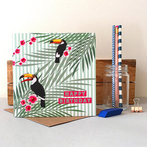 Tropical Toucan Birthday Card - Bluebells of Bath