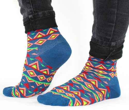 Bright Aztec Lucky Socks - Bluebells of Bath