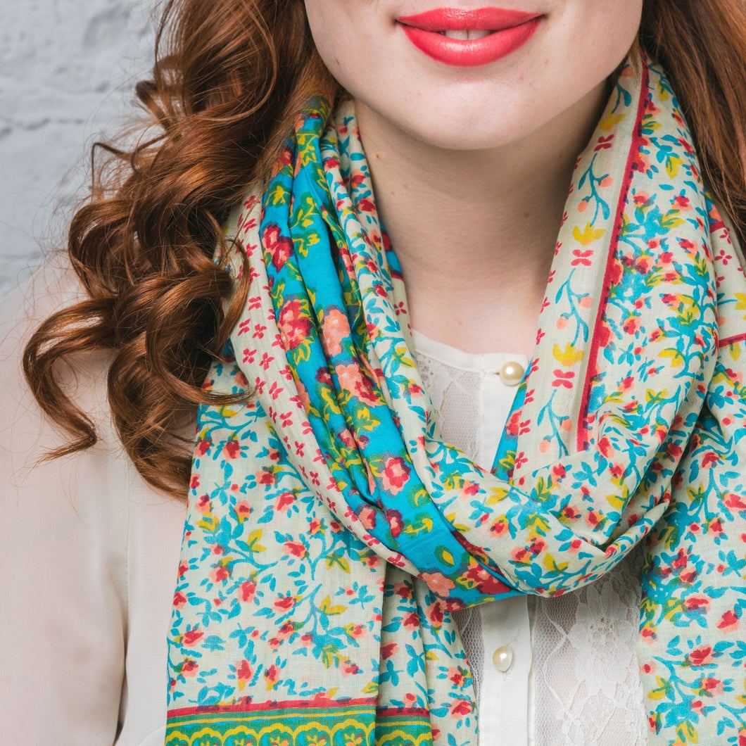 Turquoise Sorcha Scarf - Bluebells of Bath
