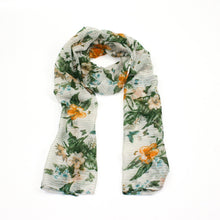 Flowers and Butterflies Scarf - Bluebells of Bath