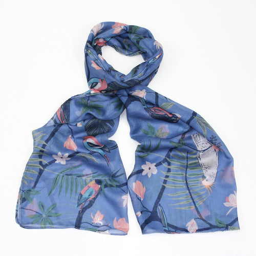Tropical Bird Scarf - Bluebells of Bath