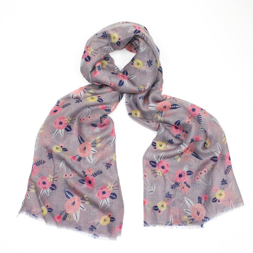 Christine Floral Scarf - Bluebells of Bath
