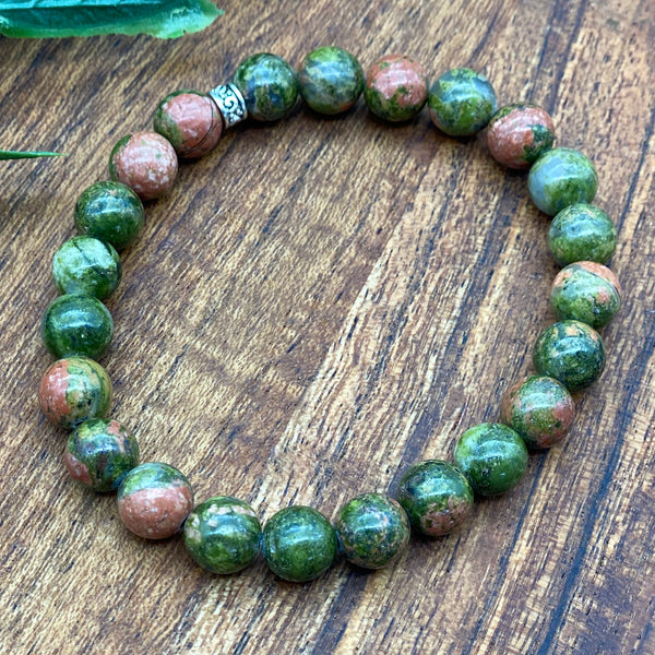 Change your Thoughts - Unakite Jasper Stretchy Bracelet