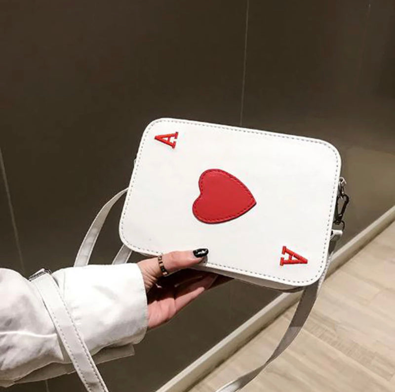Cute Ace of Hearts Rockabilly Handbag Gift