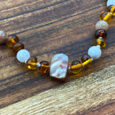 Pregnancy & Child Birth Adult Brown Amber, Moonstone & Pearl Necklace