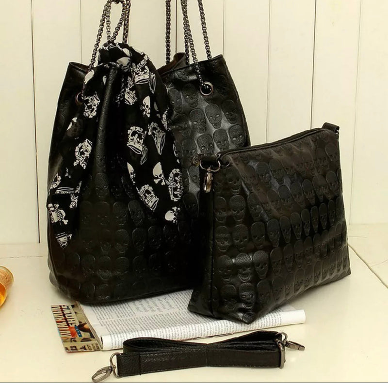 Beautiful Punk Skull Ladies Hand Bags