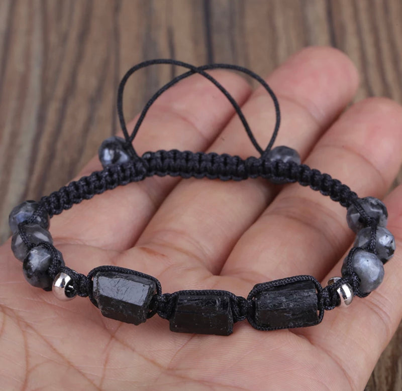 Adult Protection from Negativity Tourmaline Lava Stone Diffuser Bracelets
