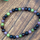 Pain, toxic emotions & Anxiety Lepidolite, Jasper and Amber Stretchy Adult Bracelets