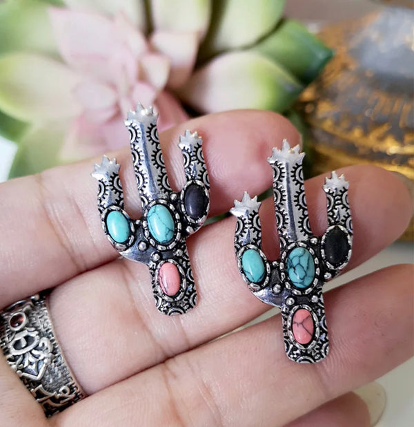Boho Cactus Earrings