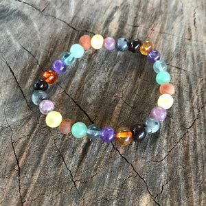 Super Calm Amber & Gemstone Stretchy Bracelets