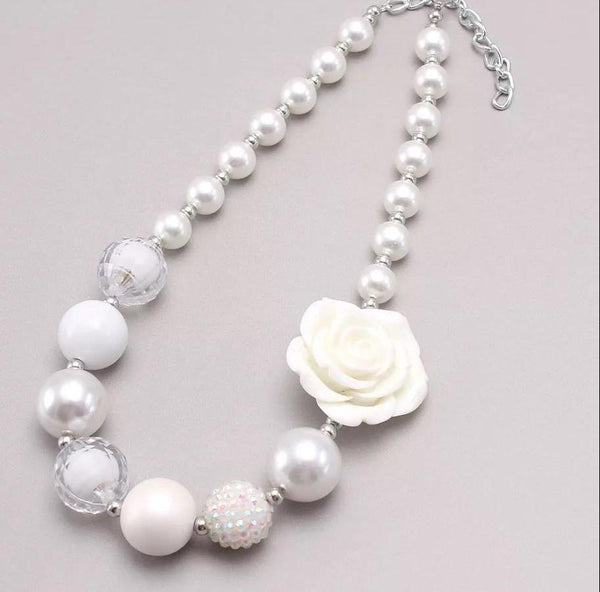 Kids fashion pearl bubble flower 🌸 necklace