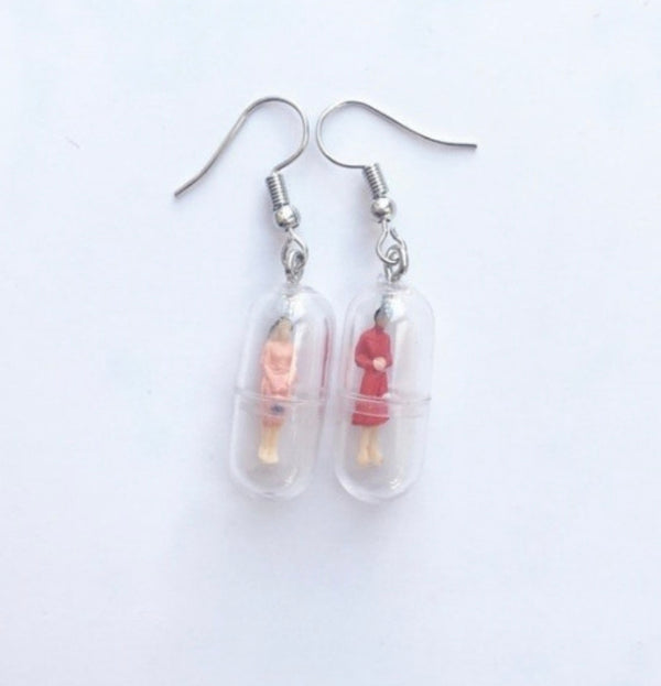Weird People in Capsule Earrings ~ Awesome Gift clearance