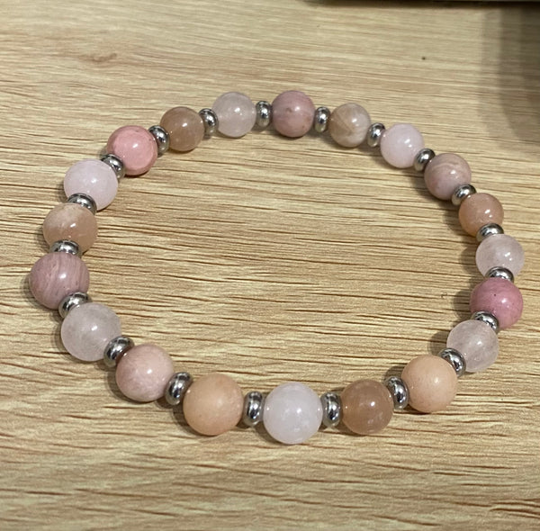 Pregnancy Love & Fertility Moonstone & Quartz Bracelets