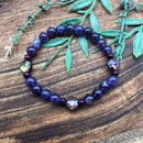 Sleep and Contentment Adult Amethyst & Hematite Bracelet or Necklace Gift