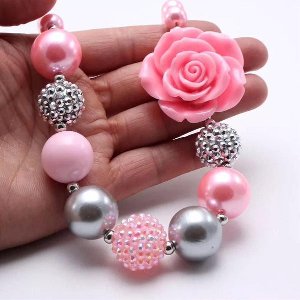 Kids fashion bubble flower 🌸 necklace
