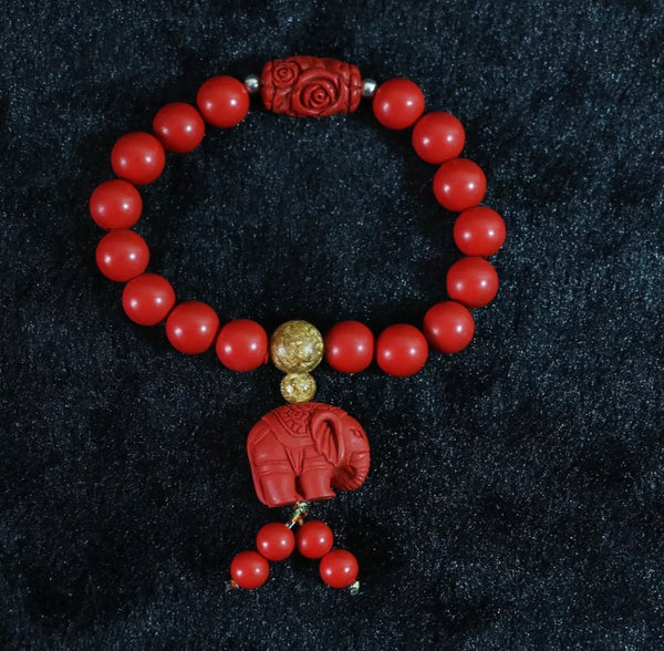 Good Luck Red Elephant Adult Bracelets