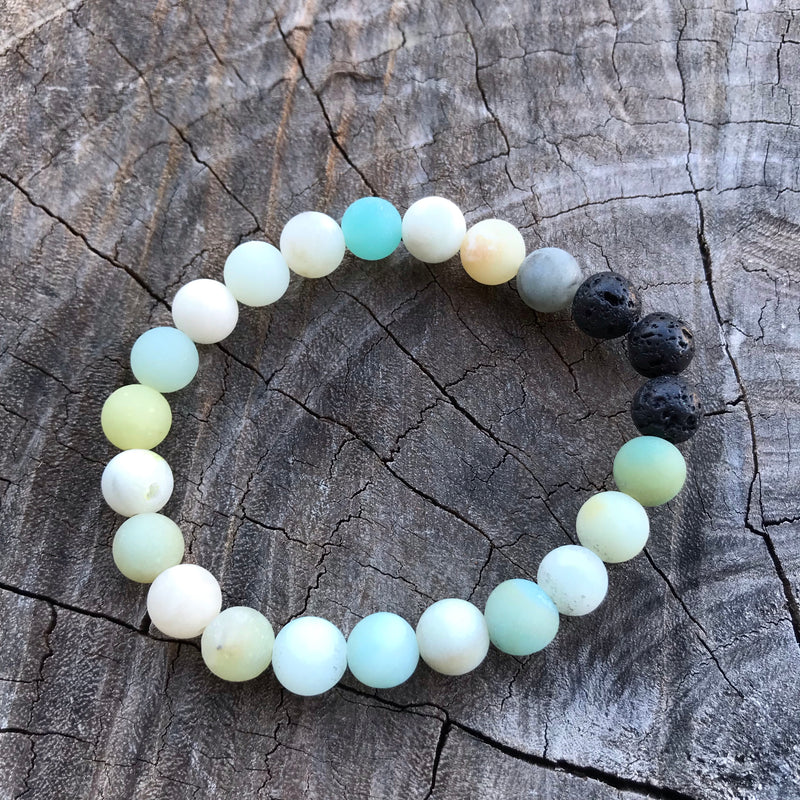 Adult Amazonite & Lava Diffuser Bracelets clearance