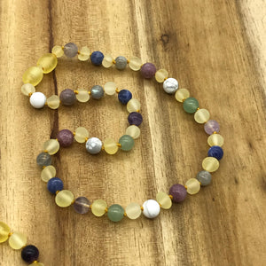 Baby & Kids Raw Yellow Amber & Anxiety Super Calming Selection Teething Necklace