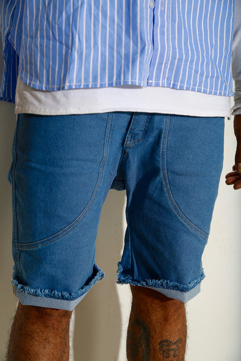 Distressed resort shorts