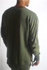 Green Shirring Stitch Bomber Crew