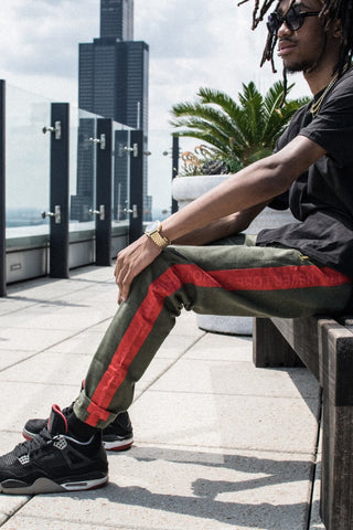 Luxe GG Track Pant red