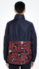 MONCLER GENIUS 1952 MEN'S MULTICOLOR OCTAGON ZIPPED JACKET WITH LOGO PRINTED