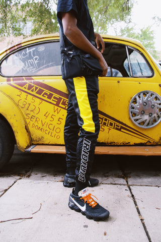 Black and Yellow 'Ran' Urban Joggers