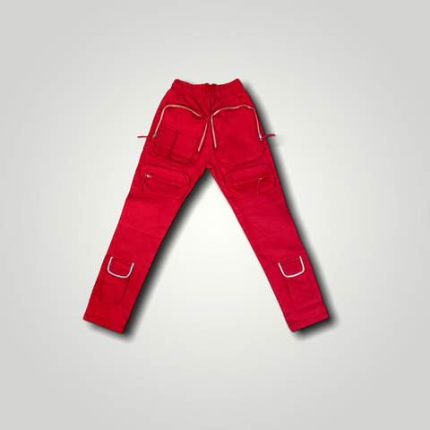 Mad money pants red