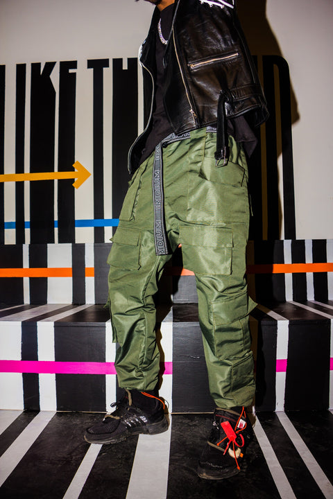 Crazy Pocket Pants (Olive)