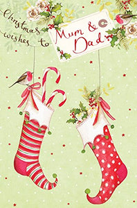 Abacus Cards Mum & Dad Christmas Card