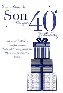 Son on your 40th Birthday, Birthday Card