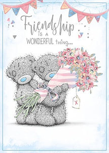 General card friendship is a wonderful thing tatty teddys with general card friendship is a wonderful thing tatty teddys with bouquet of flowers by carte blanche m4hsunfo