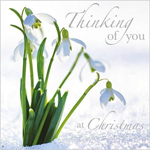 Christmas Card (ABA6341) Thinking Of You - Snowdrops - Foil Finish