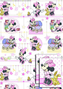 Disney Minnie Baby 2x Gift Wrap Sheets and 2x Gift Tags