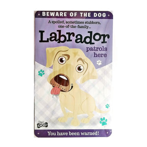 "Dog Sign/Plaque ""Labrador (Cream)"" by Paper Island"