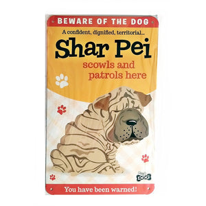 "Dog Sign/Plaque ""Shar-Pei"" by Paper Island"