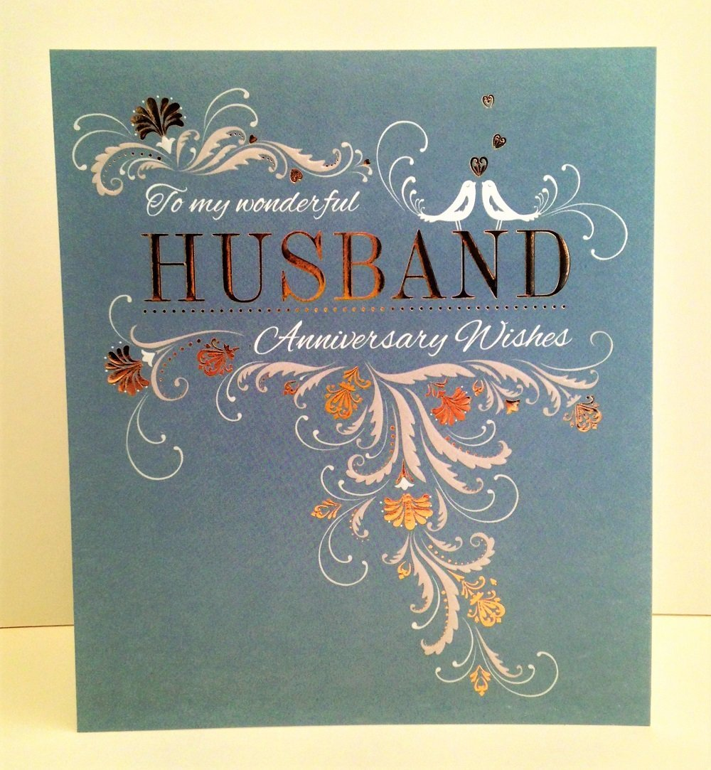 Abacus Cards Wonderful Husband Anniversary Card
