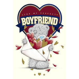 Boyfriend Birthday Card Tatty Teddy With letter Filled With Red Hearts By Carte Blanche