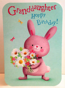 Abacus Cards Granddaughter Hoppy Birthday Card