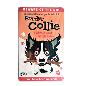 "Dog Sign/Plaque ""Border Collie"" by Paper Island"