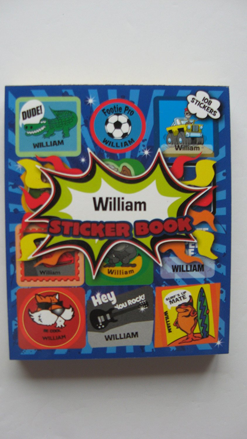 BOYS PERSONALISED STICKER BOOK