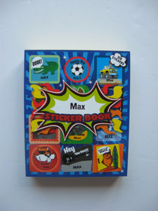 "BOYS PERSONALISED STICKER BOOK ""MAX"""""