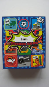 "BOYS PERSONALISED STICKER BOOK ""LIAM"""