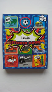 "BOYS PERSONALISED STICKER BOOK ""LEWIS"""