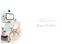 General Birthday Card Girls Computer Room By ICG