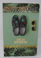 General Happy Birthday Card Floral Shoes & Sun Glasses By Cherry Orchard
