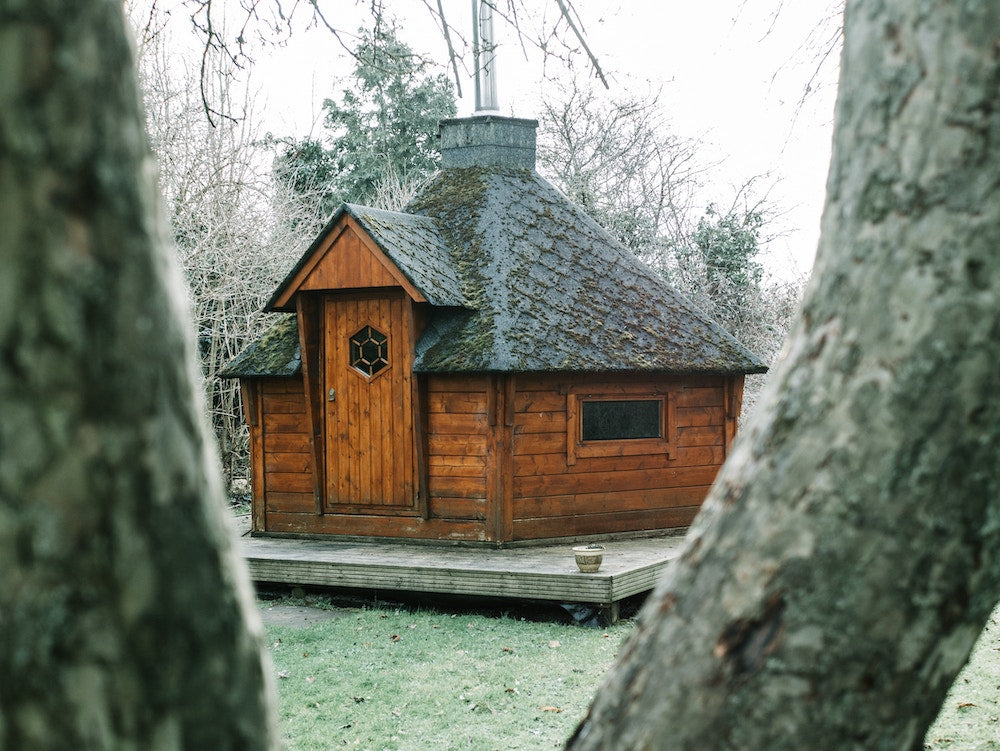 old fashioned sauna house